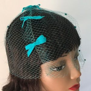 Vintage Blue Veil with Bows
